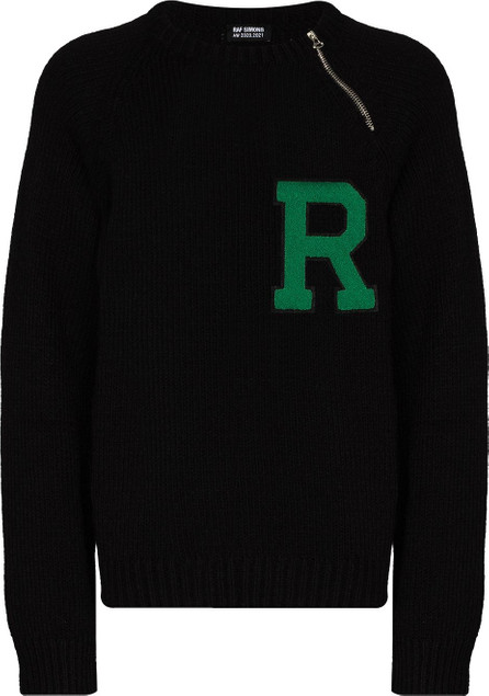 Raf Simons Letter-badge crew-neck jumper