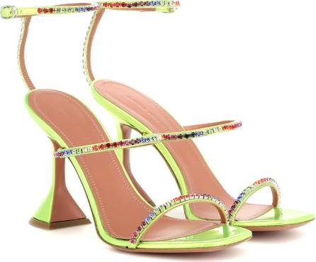 Amina Muaddi Gilda embellished leather sandals