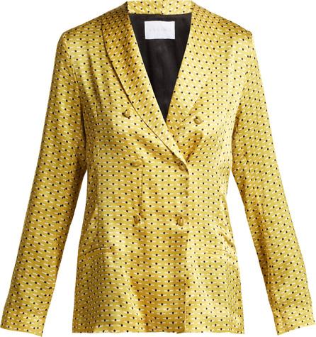 Asceno Geometric-print silk pyjama-style jacket