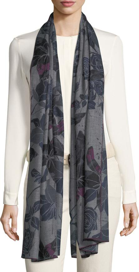 Loro Piana Cashmere Stola Amaryllis Floral Pattern Soft Air Scarf