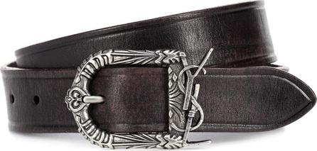 Saint Laurent Monogram Celtic leather belt