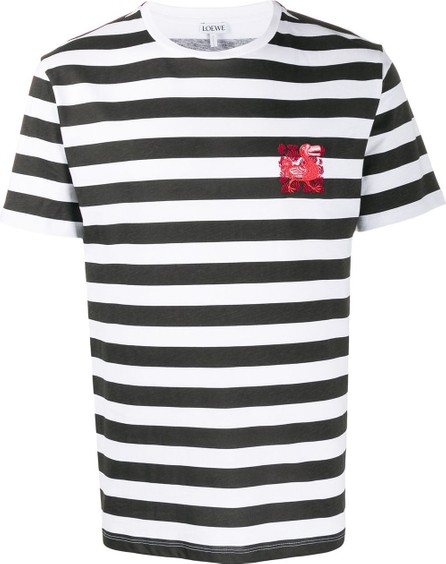 LOEWE Embroidered dodo striped T-shirt