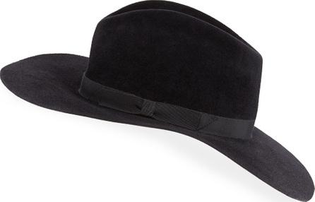 Gladys Tamez Millinery Bianca Felt Downturn-Brim Hat