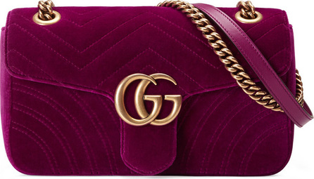 Gucci GG Marmont 2.0 Small Quilted Velvet Crossbody Bag