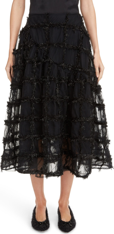 Simone Rocha Tinsel Check Tulle Skirt