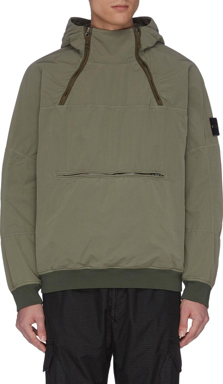 Stone Island David' zip neck hooded anorak
