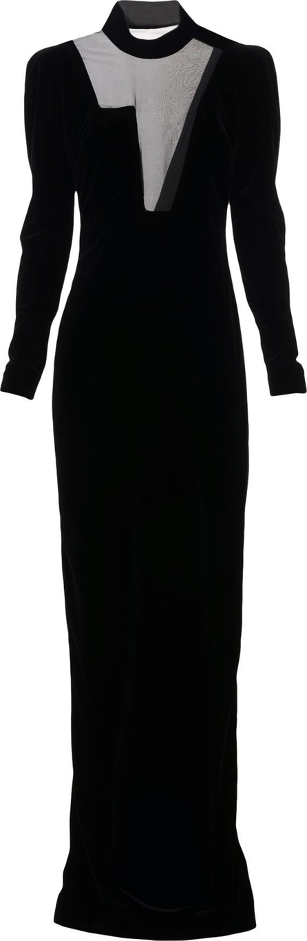 aa1b9497af1 TOM FORD Round-Neck Illusion-Yoke Silk Knit Cocktail Dress - Mkt