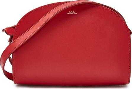 A.P.C. Demi Lune Leather Shoulder Bag