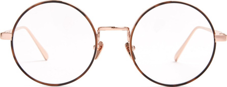 Linda Farrow Tortoiseshell round acetate glasses