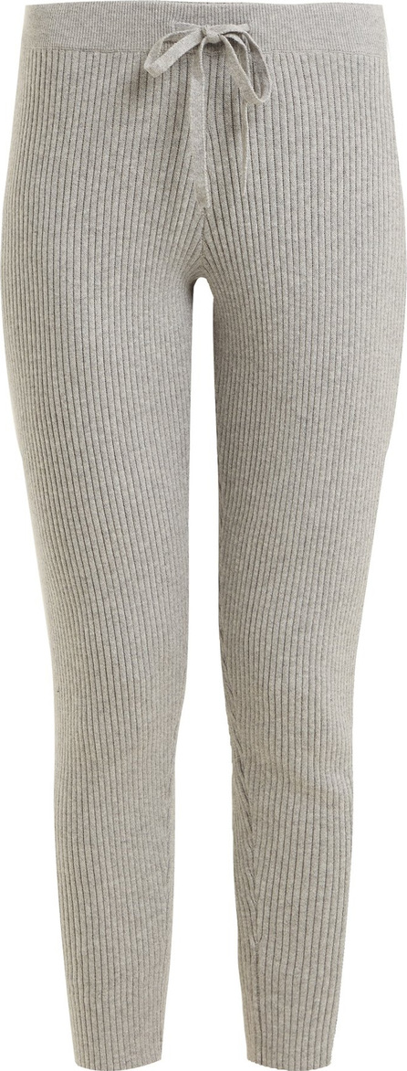 SKIN Vanya ribbed-knit cotton-blend trousers