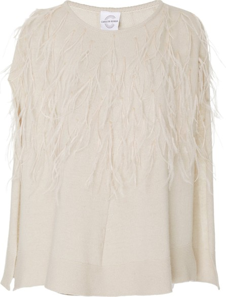 Carolyn Rowan Exclusive Feathered Cashmere Poncho