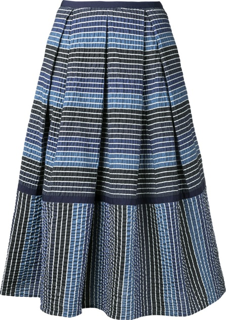Erdem striped midi skirt