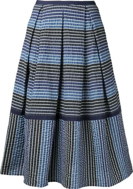 Erdem striped midi skirt