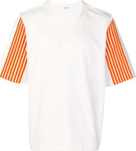 Dima Leu Striped sleeve T-shirt