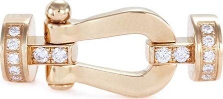 Fred 'Force 10' diamond 18k yellow gold medium buckle