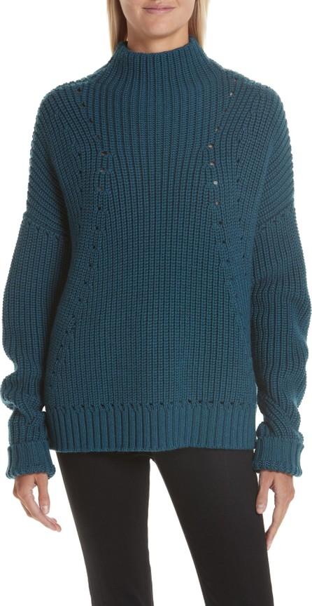 GREY Jason Wu Merino Wool Mock Neck Sweater