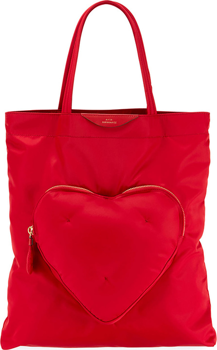 Anya Hindmarch Chubby Heart Nylon Tote Bag