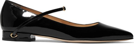 Jennifer Chamandi Lorenzo patent-leather point-toe flats