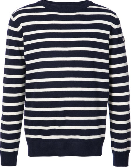 Holiday striped crew neck jumper