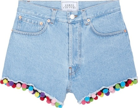 Forte Couture Pompom denim shorts