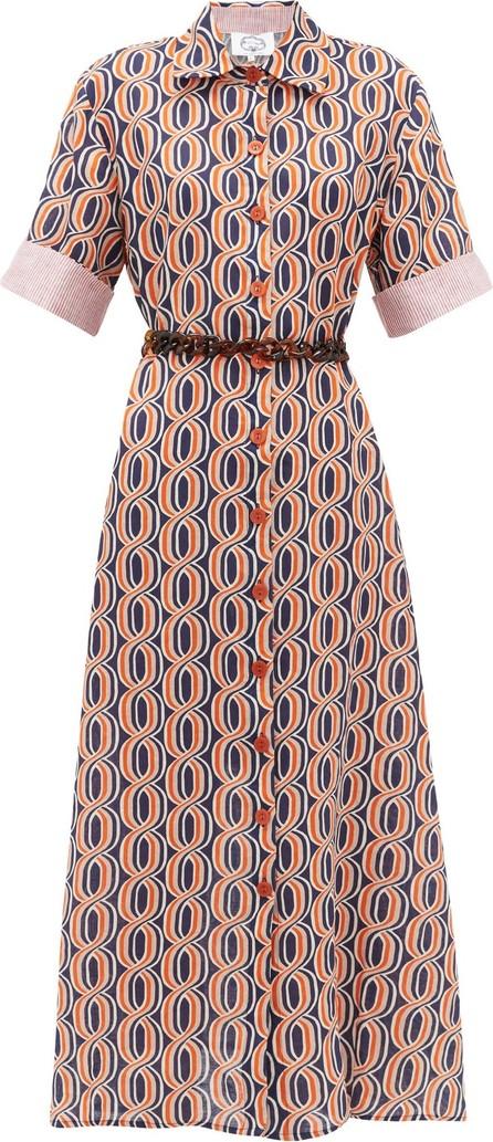 Evi Grintela Tangier printed-linen midi shirtdress