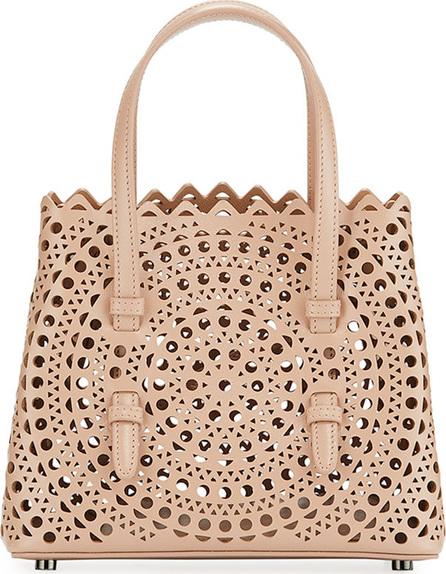 Alaïa Micro New Vienne Laser-Cut Leather Tote Bag