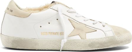 Golden Goose Deluxe Brand Super Star low-top shearling-lined trainers