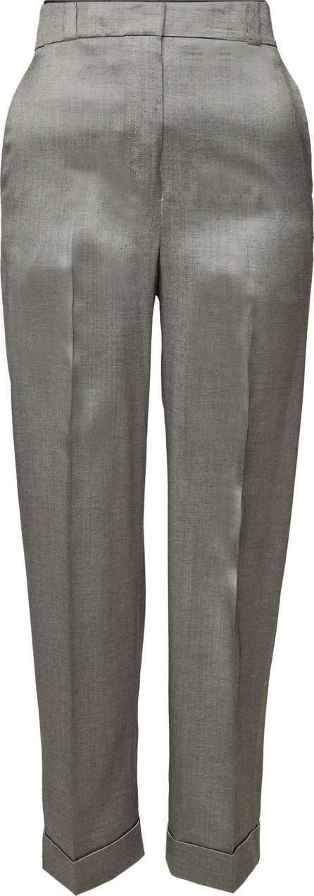 Theory Wide Straight Leg Trousers with Cuffs
