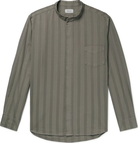 Chimala Grandad-Collar Striped Cotton Shirt