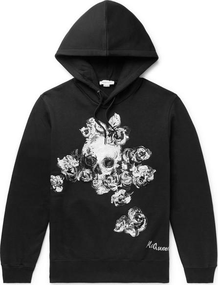 Alexander McQueen Embroidered Fleece-Back Cotton-Jersey Hoodie
