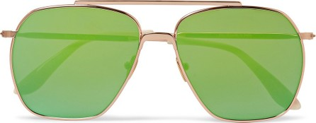 Acne Studios Anteom Aviator-Style Rose Gold-Tone and Acetate Sunglasses