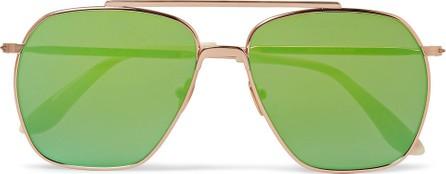 Acne Studios Anteom Aviator-Style Rose Gold-Tone and Acetate Sunglasses