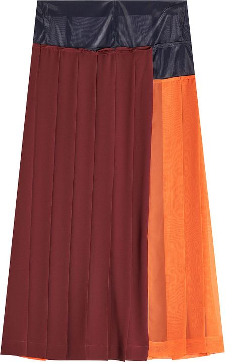 Victoria Beckham Pleated Skirt with Mesh