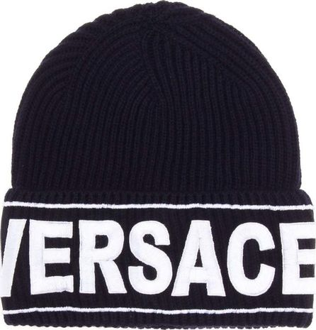 Versace Embroidered wool beanie