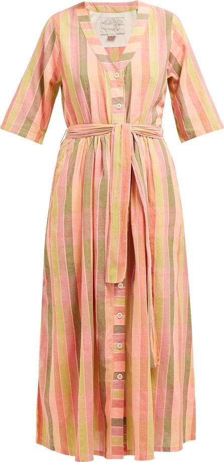ace&jig Leelee striped cotton midi dress