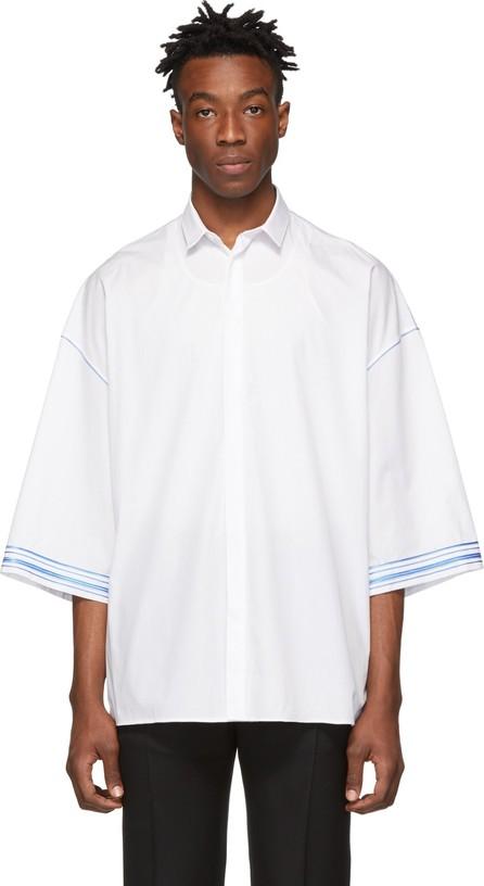 Haider Ackermann White & Blue Cotton Shirt