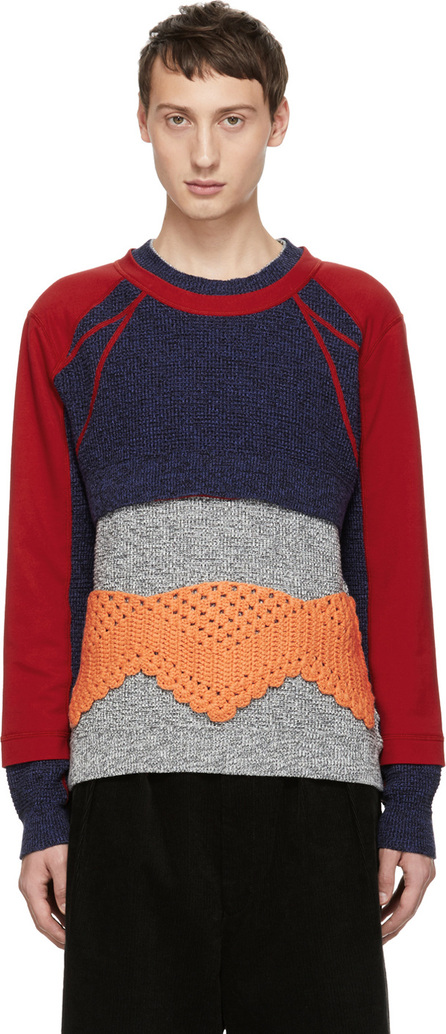 Craig Green Multicolor Panelled Crewneck Sweater