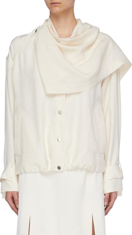 3.1 Phillip Lim Detachable scarf panel sateen jacket