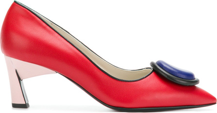 Marni Circle plaque pumps