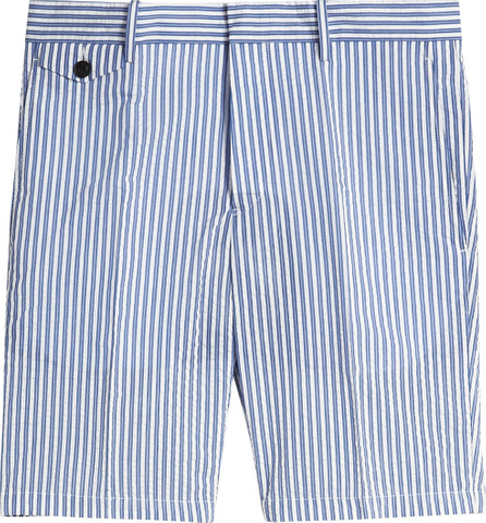 Burberry London England Striped Cotton Blend Tailored Shorts
