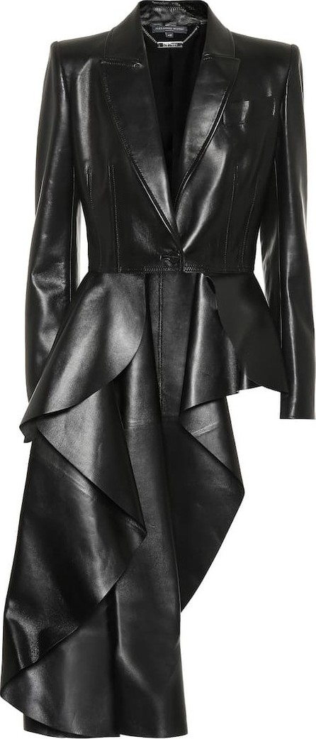 Alexander McQueen Asymmetrical leather jacket