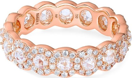 64 Facets 18k Rose Gold Scallop Diamond Ring, 1.5tcw