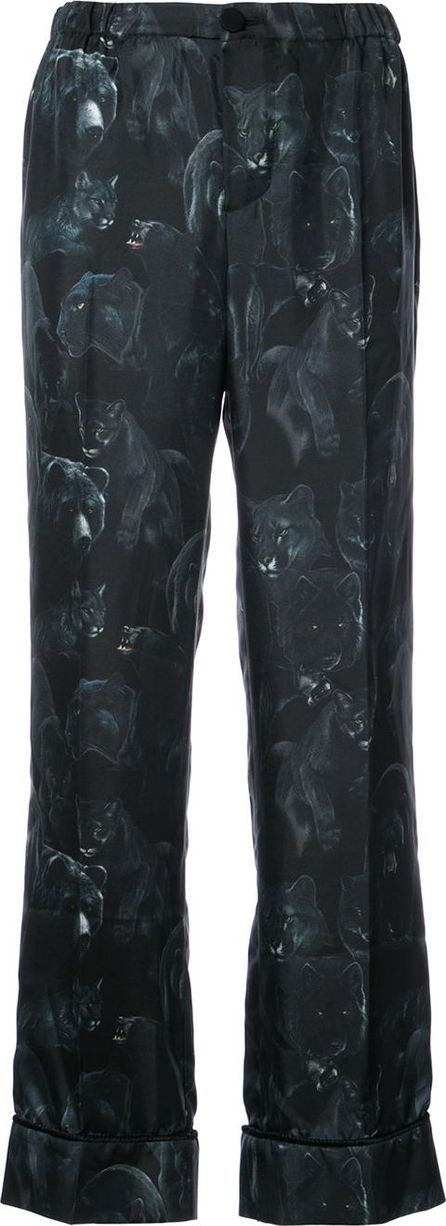 F.R.S For Restless Sleepers Animal print trousers