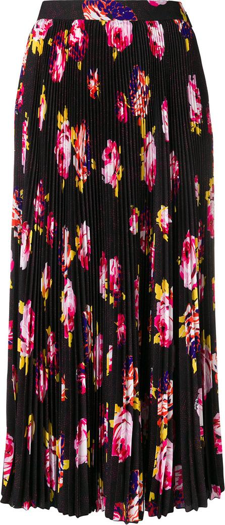 MSGM Pleated floral print skirt
