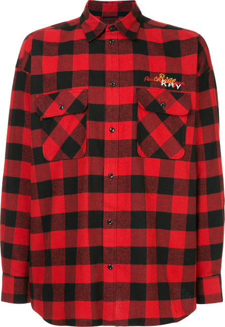 Doublet Back embroidered checked shirt