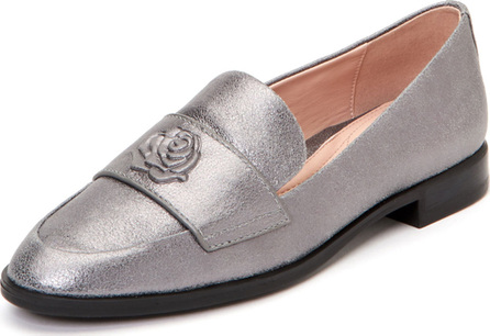 Taryn Rose Blossom Metallic Leather Loafers