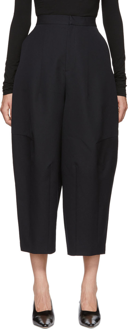 Enfold Navy Cocoon Wide Wool Trousers