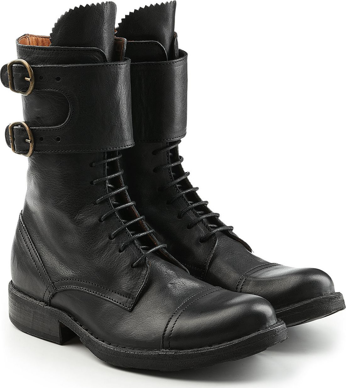 Fiorentini + Baker - Leather Boots with Lace-Up Front