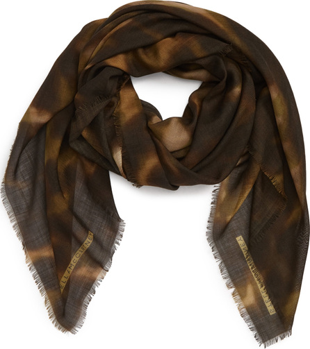 Stella McCartney Nina Leopard Print Wool & Silk Scarf