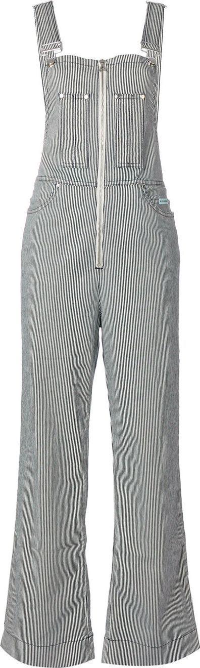 Alexa Chung striped dungarees